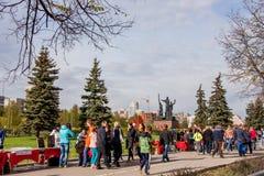 Perm Rosja, Maj, - 09 2016: Uliczny handel w wakacyjnym dniu Zdjęcie Royalty Free