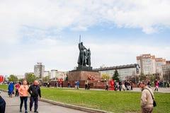 Perm Rosja, Maj, - 09 2016: Zabytek bohaterzy przód i tyły Obraz Royalty Free