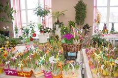 Perm Rosja, Marzec, - 04 2016: Dekoracyjni piękni kwiaty w sh Fotografia Stock