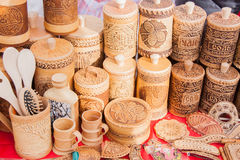 PERM ROSJA, Marzec, - 13, 2016: Handel sprzeciwia się z dekoracyjnym wo Zdjęcia Royalty Free