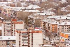 Perm, Rosja, Październik 31 2015: Miasto krajobraz Zdjęcie Stock