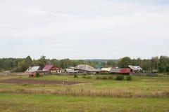 Perm Rosja, Wrzesień, - 02 2016: Wiejski lato krajobraz Obraz Stock