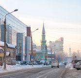 perm Rusland De Straat van het Monastyrskayaklooster royalty-vrije stock foto