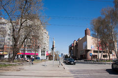 Perm, Russia - April 30.2016: Street Siberian, a  city landscape Stock Images