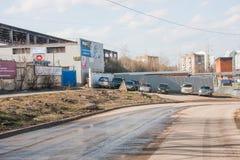Perm, Russia - 16 aprile 2016: Centro di servizio dell'automobile Fotografia Stock