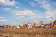 Perm, Russia - aprile 16,2016: Costruzione di nuovo ad alta altitudine Immagine Stock Libera da Diritti