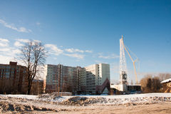 PERM, RUSSIA, Feb, 06.2016: Winter urban landscape Royalty Free Stock Photography