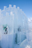 PERM, Russia - February, 06.2016: beautiful ice sculptures Royalty Free Stock Image