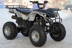 Perm, Russia - February 10, 2018: Modern ATV stands near the ice Royalty Free Stock Image