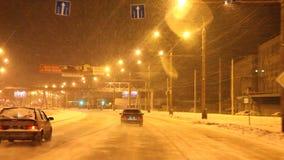 Perm, Russia - 29 gennaio 2017: Traffico sulle vie della città video d archivio