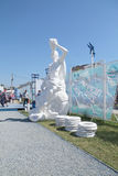 PERM, RUSSIA - 11 GIUGNO 2013: Bestiario di perm dei personaggi immaginari Immagini Stock