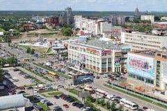 PERM, RUSSIA - 25 GIUGNO 2014: Seconda costruzione del centro commerciale Immagini Stock Libere da Diritti