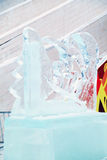 PERM, RUSSIA - JAN 6, 2014: Snowboarder sculpture in Ice town Royalty Free Stock Photography