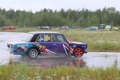 PERM, RUSSIA - JUL 22, 2017: Car competes Stock Images