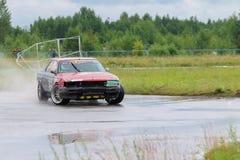 PERM, RUSSIA - JUL 22, 2017: Drifting car Royalty Free Stock Photos