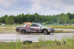 PERM, RUSSIA - JUL 22, 2017: Drifting modern car move Royalty Free Stock Photography
