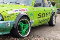PERM, RUSSIA - JUL 22, 2017: Green competitor car Stock Image