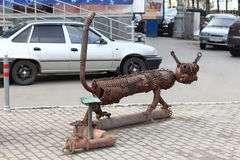 PERM, RUSSIA - JUL 18, 2013: Urban sculpture Kotofeich Stock Images