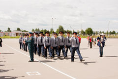 PERM, RUSSIA, JULY 04.2015:Cadets of college of federal service Stock Photos
