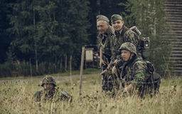 PERM, RUSSIA - JULY 30, 2016: Historical reenactment of World War II, summer, 1942. German soldiers. Royalty Free Stock Images