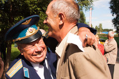 PERM, RUSSIA, JULY 04.2015:Meeting of veterans of aviation college Stock Photos