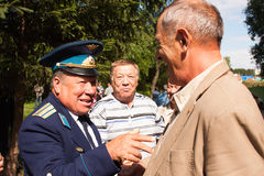 PERM, RUSSIA, JULY 04.2015:Meeting of veterans of aviation college Stock Image