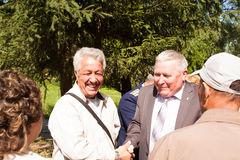 PERM, RUSSIA, JULY 04.2015:Meeting of veterans of aviation college Stock Photo
