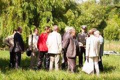 PERM, RUSSIA, JULY 04.2015:Meeting of veterans of aviation college Stock Photography