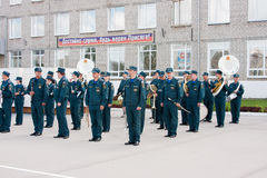 PERM, RUSSIA, JULY 04.2015:Military orchestra at a meeting of veterans Royalty Free Stock Image