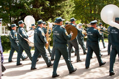 PERM, RUSSIA, JULY 04.2015:Military orchestra at a meeting of veterans Stock Photo