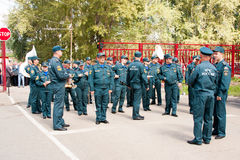 PERM, RUSSIA, JULY 04.2015:Military orchestra at a meeting of veterans Royalty Free Stock Photo