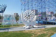 PERM, RUSSIA - JUN 11, 2013: Sculpture made of foam Perm royalty free stock image