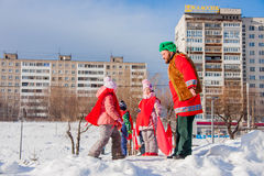 PERM, RUSSIA - March 13, 2016: Children participate in competiti Royalty Free Stock Photography