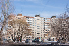 Perm, Russia - March 31,2016:  City spring landscape Stock Photography