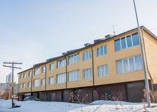 Perm, Russia - March 31.2016:  Facade of  modern building Stock Photo