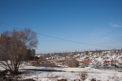Perm, Russia - March 31.2016:  Spring city landscape Stock Photography