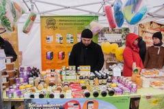 PERM, RUSSIA - March 13, 2016: The trade fair Stock Photo
