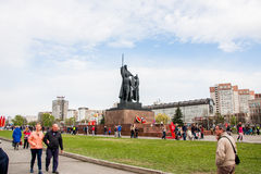 Perm, Russia - May 09.2016: Monument to Heroes of Front and Rear Royalty Free Stock Image