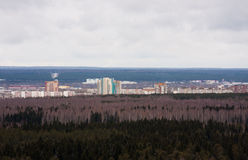 Perm, Russia, October 31.2015: the panorama of the city of Perm Royalty Free Stock Images