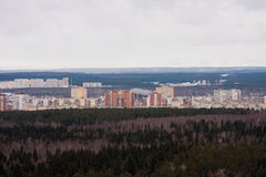 Perm, Russia,  the panorama of the city of Perm Royalty Free Stock Photo