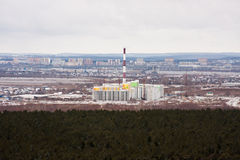 Perm, Russia,  the panorama of the city of Perm Stock Photo