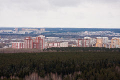 Perm, Russia,  the panorama of the city of Perm Royalty Free Stock Photography