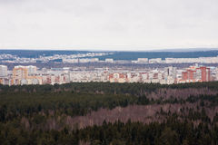 Perm, Russia, the panorama of the city of Perm Stock Photography