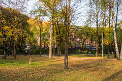 Perm, Russia - September 26.2016: Beautiful autumn park Stock Photo
