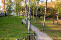 Perm, Russia - September 26.2016: Beautiful autumn park Royalty Free Stock Images