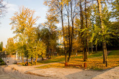 Perm, Russia - September 26.2016: Beautiful autumn park Stock Images