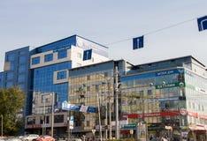 Perm, Russia - 26 settembre 2016: Costruzione di un centro commerciale Fotografia Stock Libera da Diritti