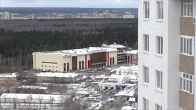 Perm, Russie, le 31 octobre 2015 : Nouvelle arène moderne banque de vidéos