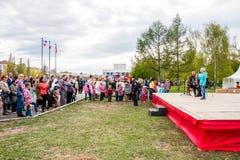 Perm, Russie - 9 mai 2016 : Concert sur l'esplanade Photo stock