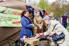 Perm, Russie - 9 mai 2016 : Production commerciale des militaires Image libre de droits